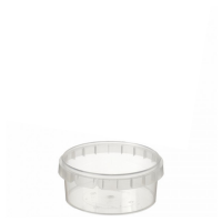 210ml Tamper Evident Clear Cont & Lid set [21093]